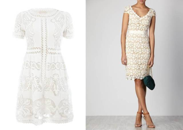Vestidos blancos con guipur